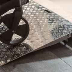 Verstelbare drempelhulp aluminium